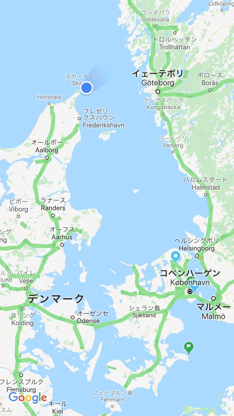 デンマーク最北端に位置するスケーエン