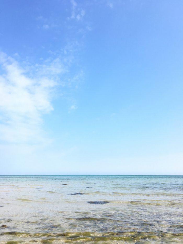 アンホルトの海。透明度が高い!