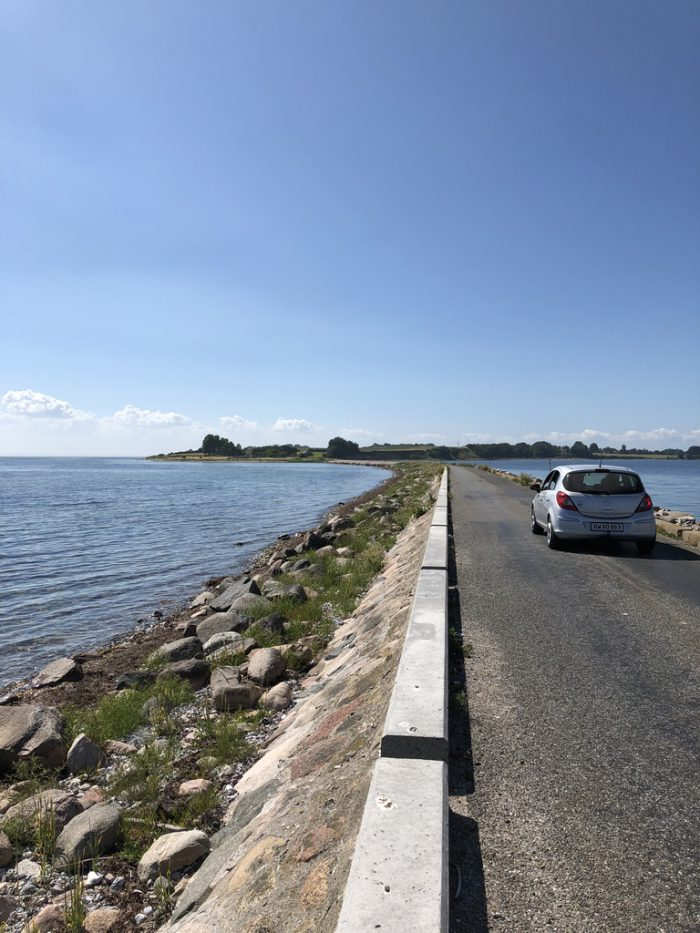 Avernakø 2つの島の接続部分