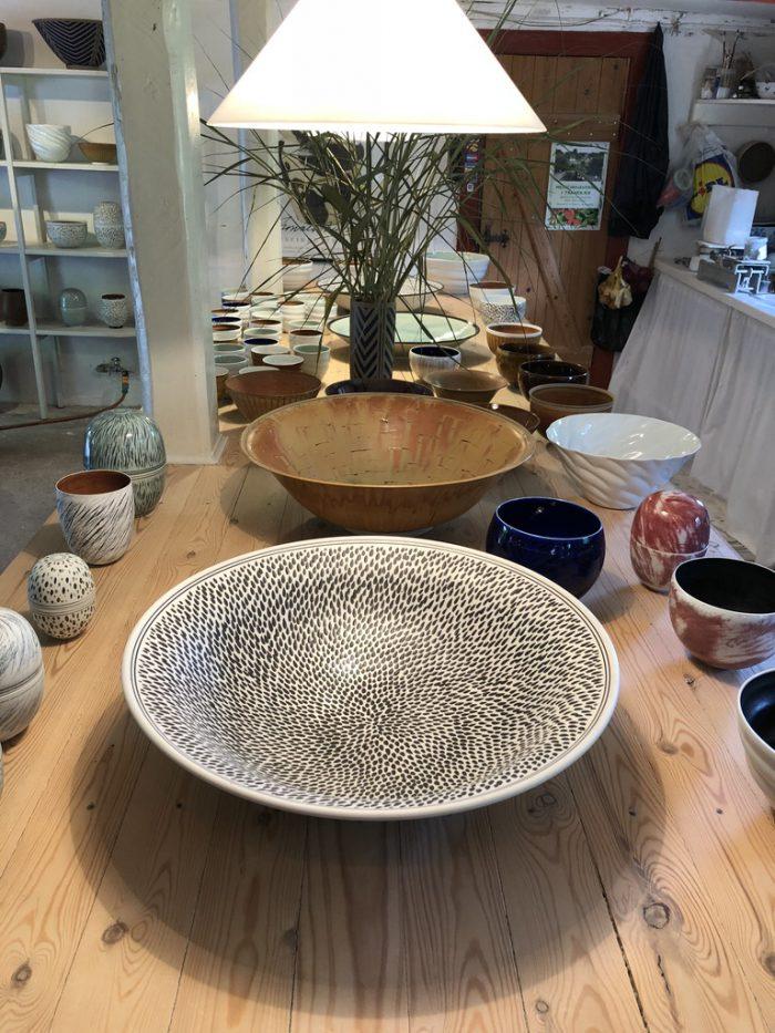 オリジナルな模様の陶器