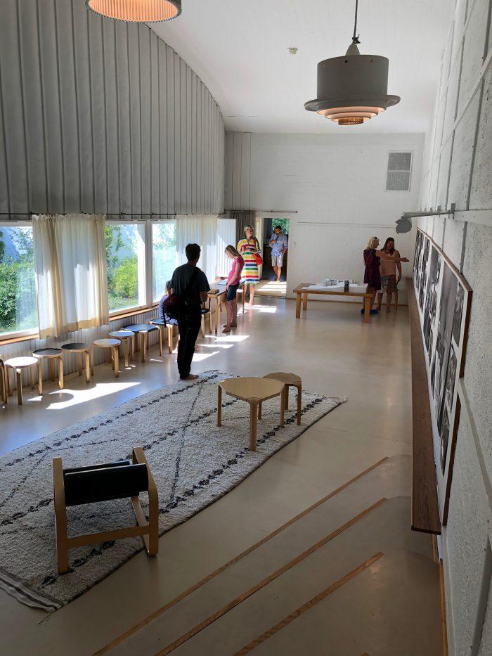 アアルトのスタジオ内部
