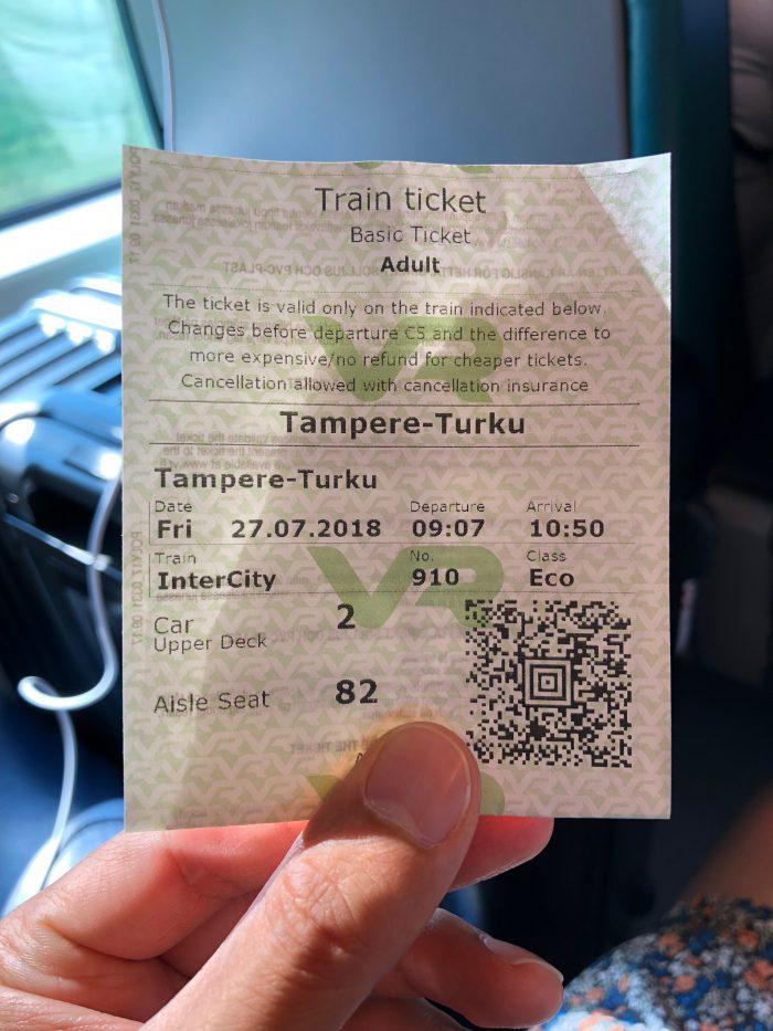 鉄道の乗車チケット