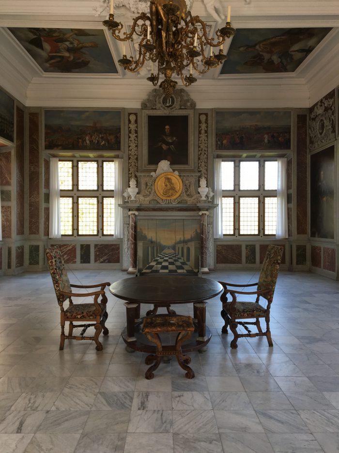 中の展示(フレデリクスボー城)