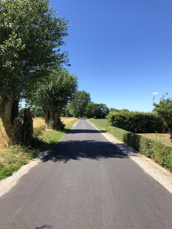 エーア島の道