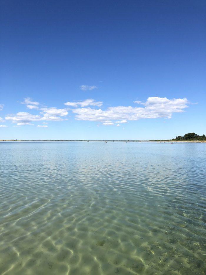 エーア島の海が綺麗・・・!