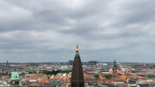 市庁舎の時計塔からの景色