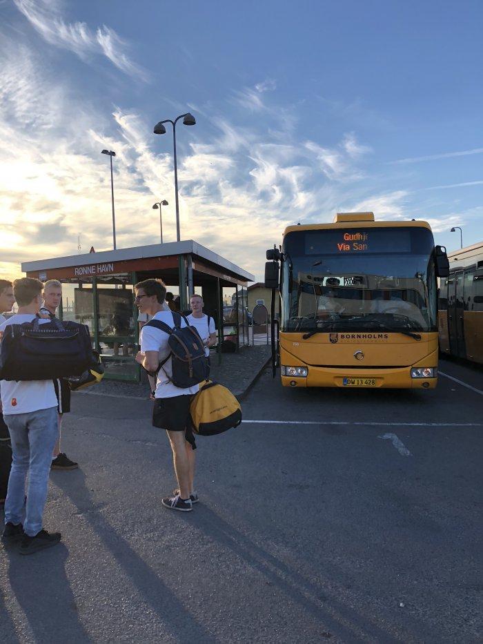 Rønneのバス乗り場