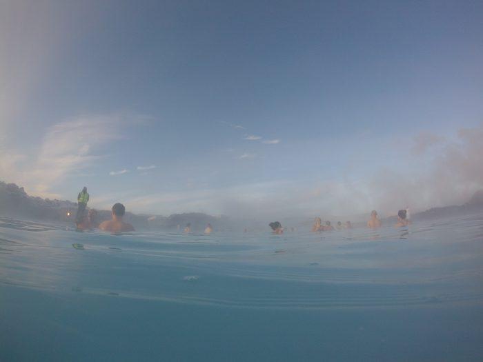 Blue Lagoonの青いお湯