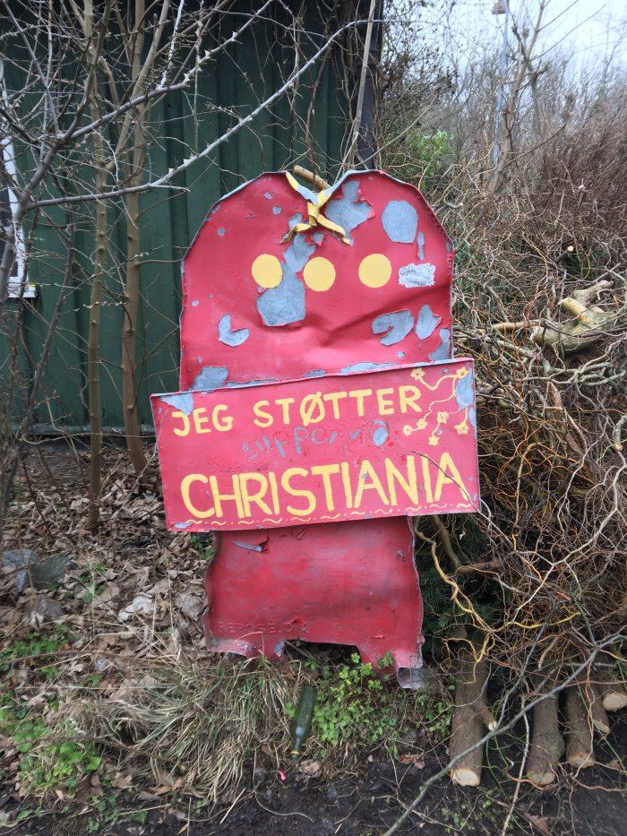 クリスチャニアの看板