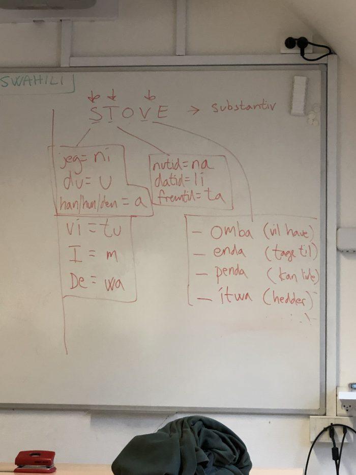 デンマーク語で習うスワヒリ語