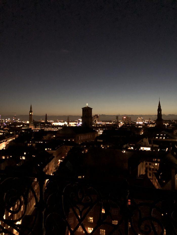 ラウンドタワーから見たコペンハーゲンの夜景