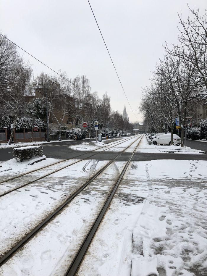 雪が降っていたザグレブ
