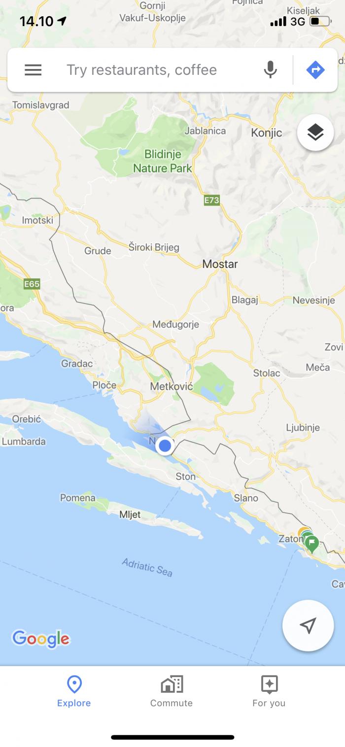 クロアチアがボスニア・ヘルツェゴヴィナを挟んでる!