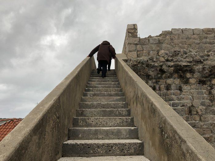 城壁の階段