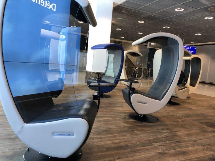 フランクフルト空港の快適な椅子