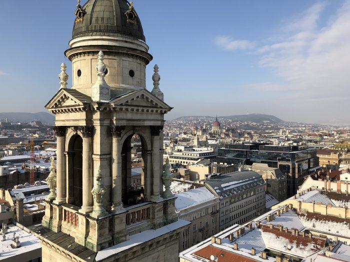 ブダペストの景色を一望できる聖イシュトバーン大聖堂の展望台