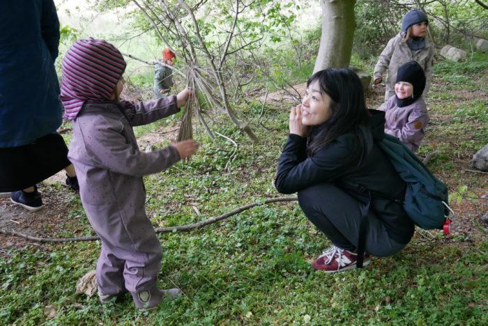 過去のツアー写真:デンマークの森のようちえん訪問