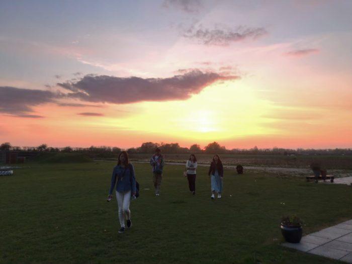 過去のツアー写真:デンマークの夕焼け